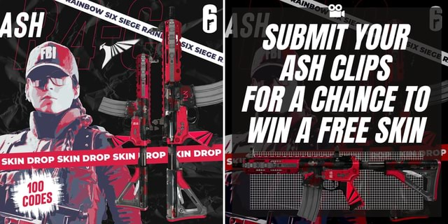 SKIN DROP SKIN KIN SUBMIT YOUR ASH CLIPS I FOR CHANCE WIN FREE SKIN ip memes
