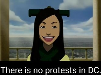 There is no protests in DC meme