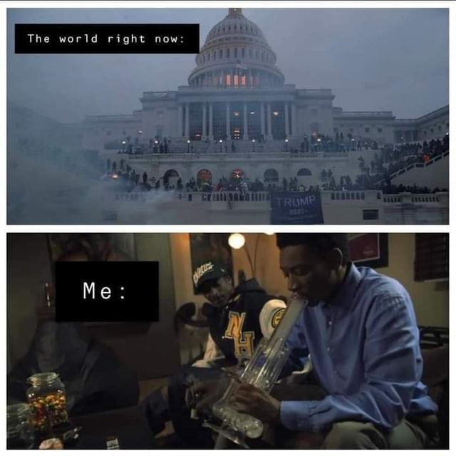 The world right now Me meme