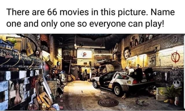 There are 66 movies in this picture. Name one and only one so everyone can play meme