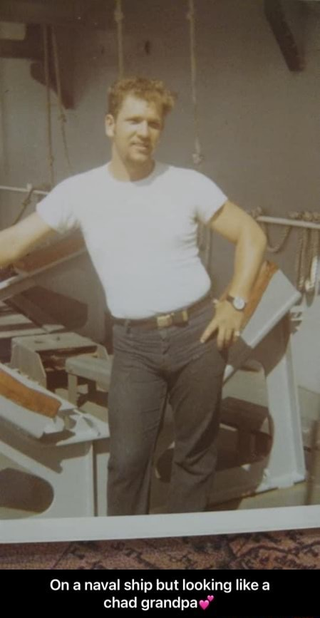 On a naval ship but looking like a chad grandpa  On a naval ship but looking like a chad grandpa memes