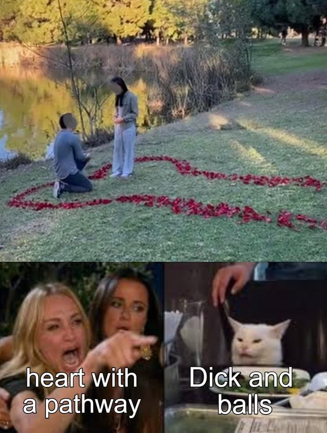 Heart with Dick and a pathway balls memes