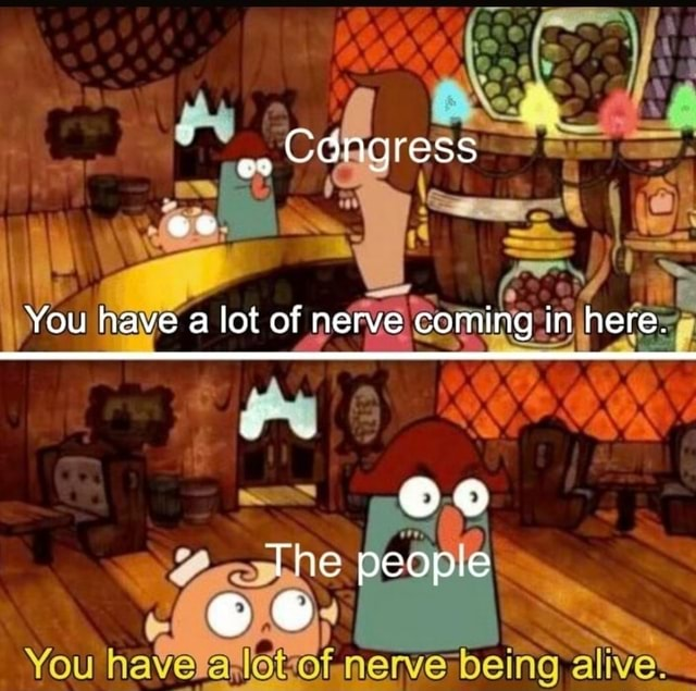 CONGrESS You have a lot of nerve coming in here. Toe peopie memes