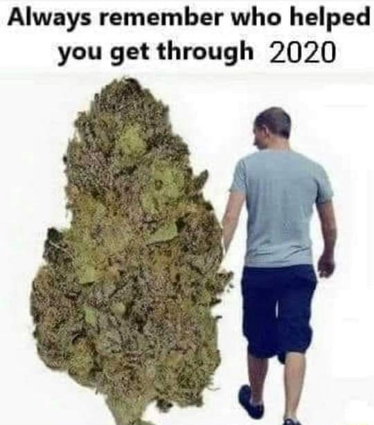 Always remember who helped you get through 2020 meme