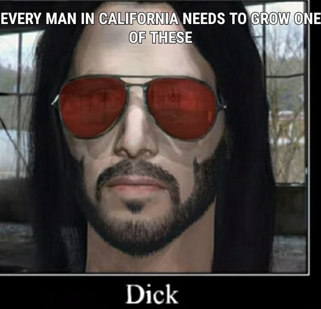 EVERY MAN IN CALIFORNIA NEEDS TO GROW ONE nq OF THESE Dick memes