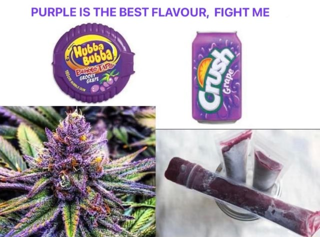 PURPLE IS THE BEST FLAVOUR, FIGHT ME memes
