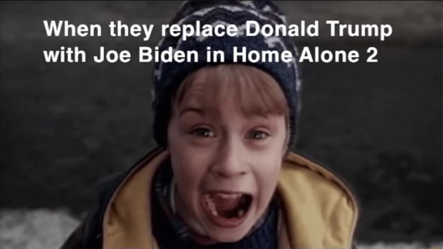 When they replace Donald Trump with Joe Biden in Home Alone 2 meme