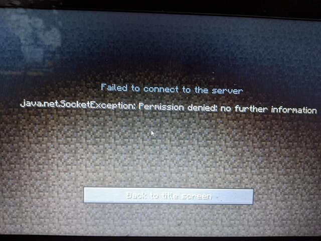 Failed to connect to the server Javanet.SocketException Pernission denied no further Information memes