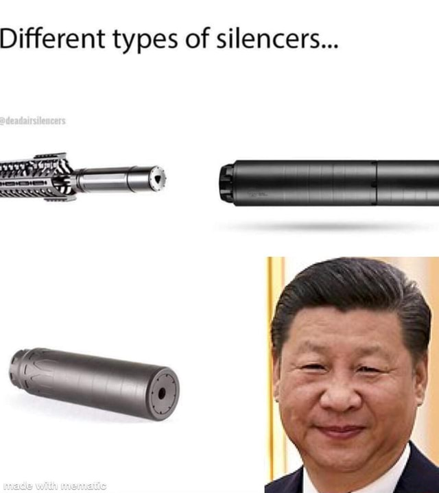 Different types of silencers aN meme