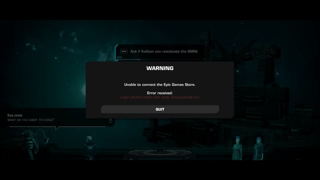 Coo Ask if Kaliban can reactivate the OINI WARNING Unable to connect the Epic Games Store. Error received QUIT memes