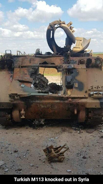 Turkish M113 knocked out in Syria Turkish M113 knocked out in Syria memes