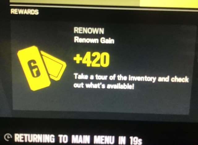 Renown Gam 420 Take tour of the inventory and check out what's available RETURNING TO MAIN MENU IN memes