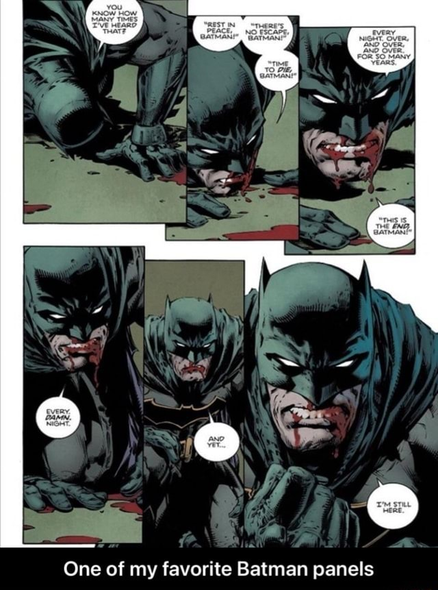 REST IN PEACE, One of my favorite Batman panels  One of my favorite Batman panels memes