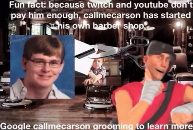 Fun fact because twitch and youtube dont pay him. enough, callmecarsan has started his owh shop' Gooadle callmecarson qrooming to learn more meme