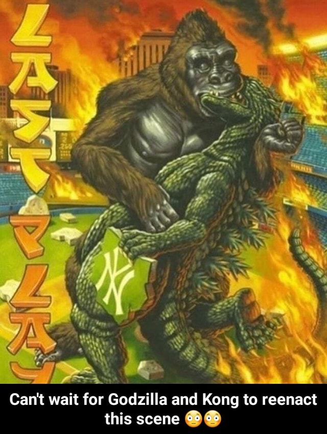 Cant wait for Godzilla and Kong to reenact this scene Can't wait for Godzilla and Kong to reenact this scene memes