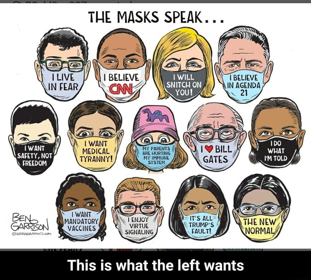 THE MASKS SPEAK MANDATORY, NOT ES ff VIRTUE IT'S VIRTUE TRUMP'S FAULTE SIGNALING This is what the left wants This is what the left wants meme
