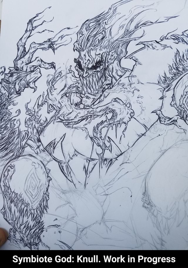 BY SS Symbiote God Knull. Work in Progress Symbiote God Knull. Work in Progress meme