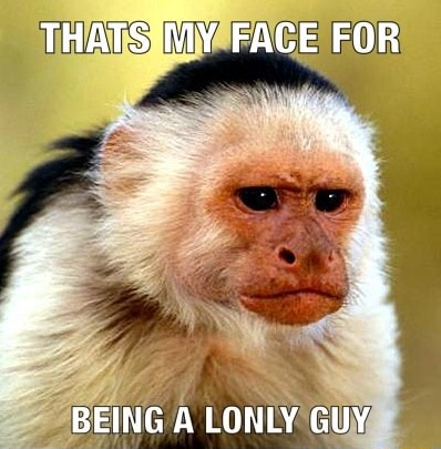 THATS MY FACE FOR BEING A LONLY GUY memes