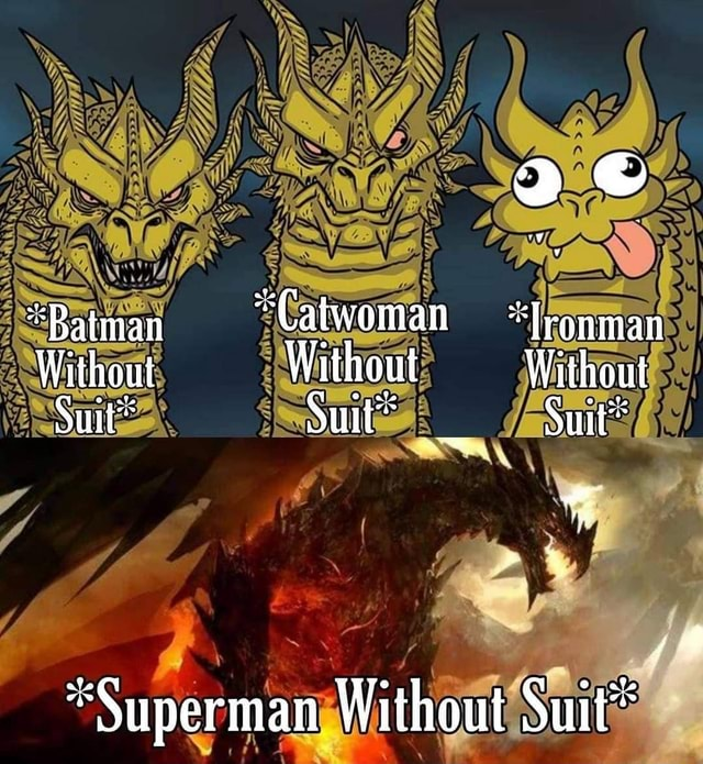 Baiman Catwoman Tronman Without Without Without Suit per Without Suit* memes
