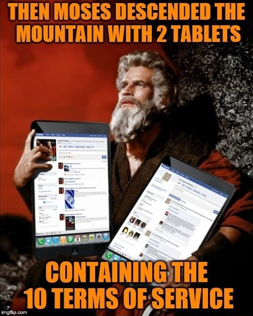 THEN MOSES DESCENDED THE MOUNTAIN WITH 2 TABLETS memes