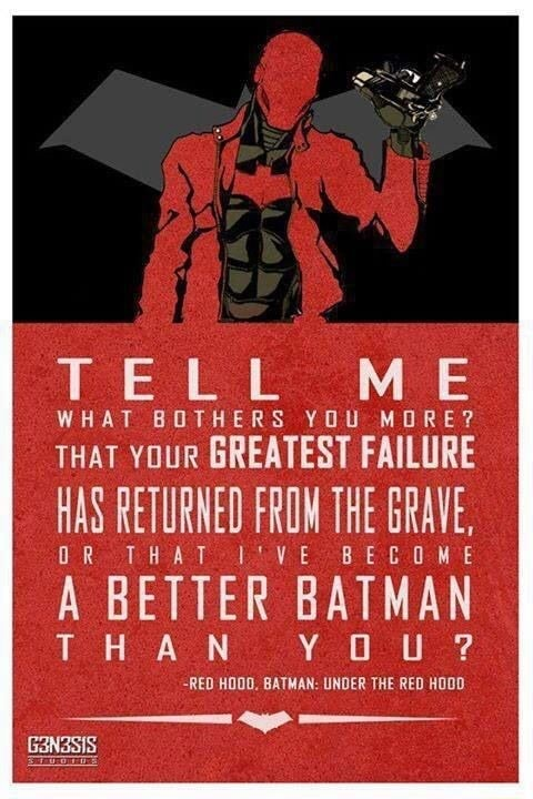 TEtL ME WHAT THAT YOUR BREATEST FAILURE HAS RETURNED FROM THE GRAVE, A BETTER BATMAN THAN YOU memes