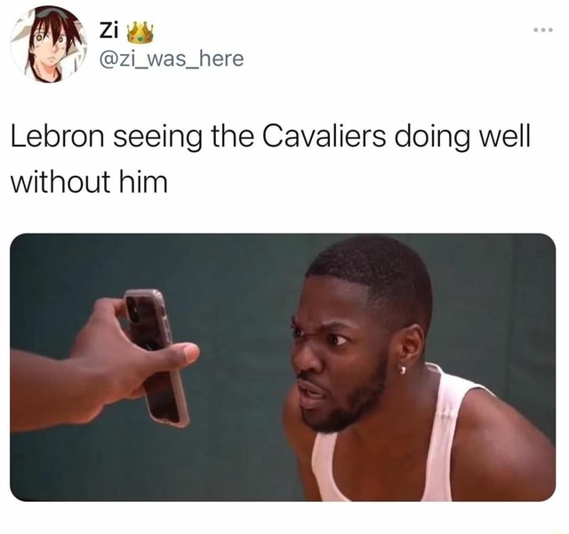 Lebron seeing the Cavaliers doing well without him memes