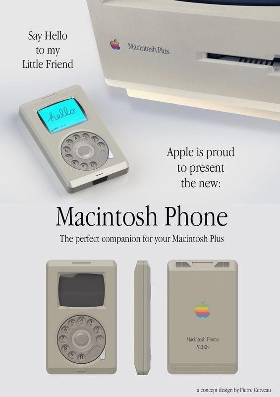 Say Hello to my Macintosh Little Friend Apple is proud to present the new Macintosh Phone The perfect companion for your Macintosh Plus Macinosh Phone S12Kb memes