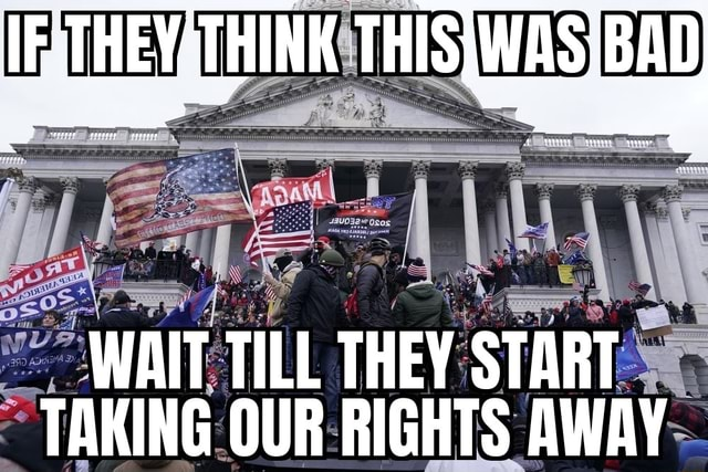 TE THEYSTHINK THISIWAS'BI ART WAIT TILL THEY START TAKING OUR RIGHTS AWAY memes