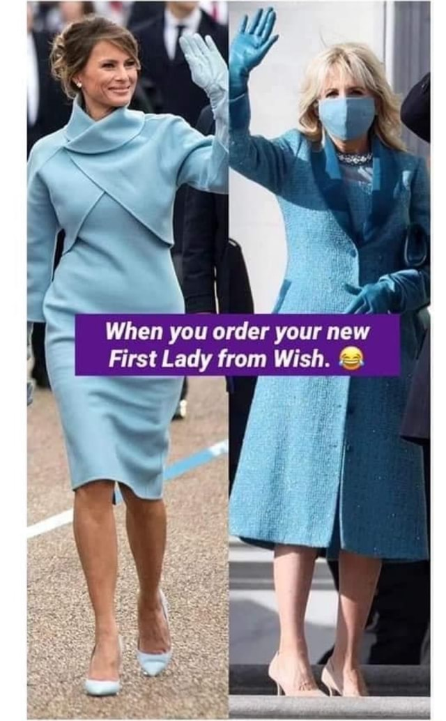 When you order your new First Lady from Wish meme