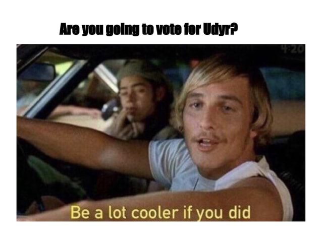 Are you going to vote for Be a lot cooler if you did memes
