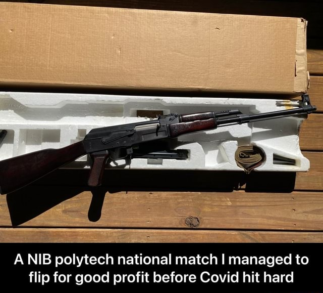 A NIB polytech national match I managed to flip for good profit before Covid hit hard A NIB polytech national match I managed to flip for good profit before Covid hit hard meme