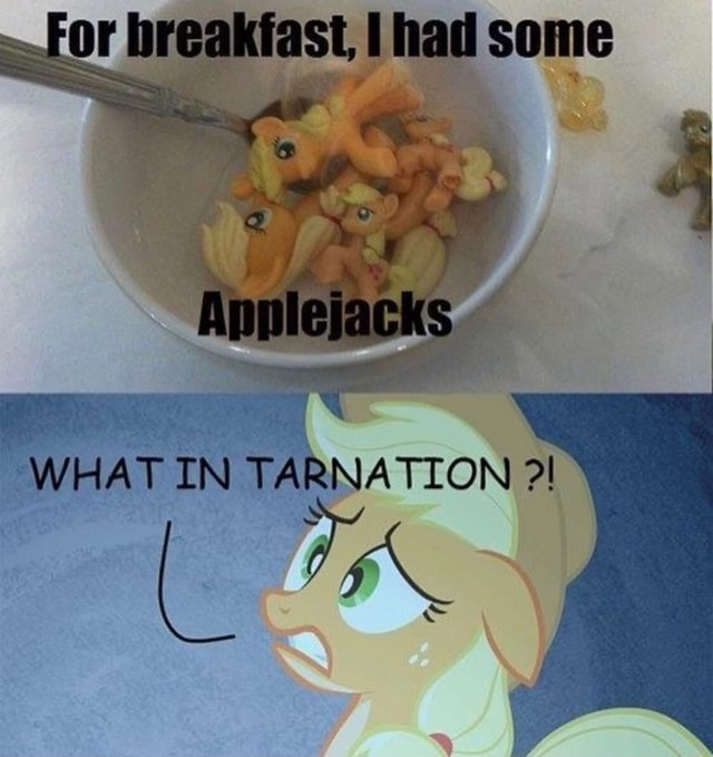 For breakfast, had some WHAT IN TARNATION meme