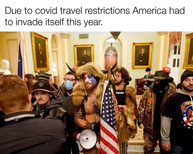 Due to cov id travel restrictions America had to invade itself this year. RS ON WAN memes