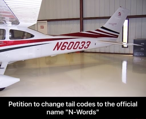 Al Petition to change tail codes to the official name N Words  Petition to change tail codes to the official name N Words memes