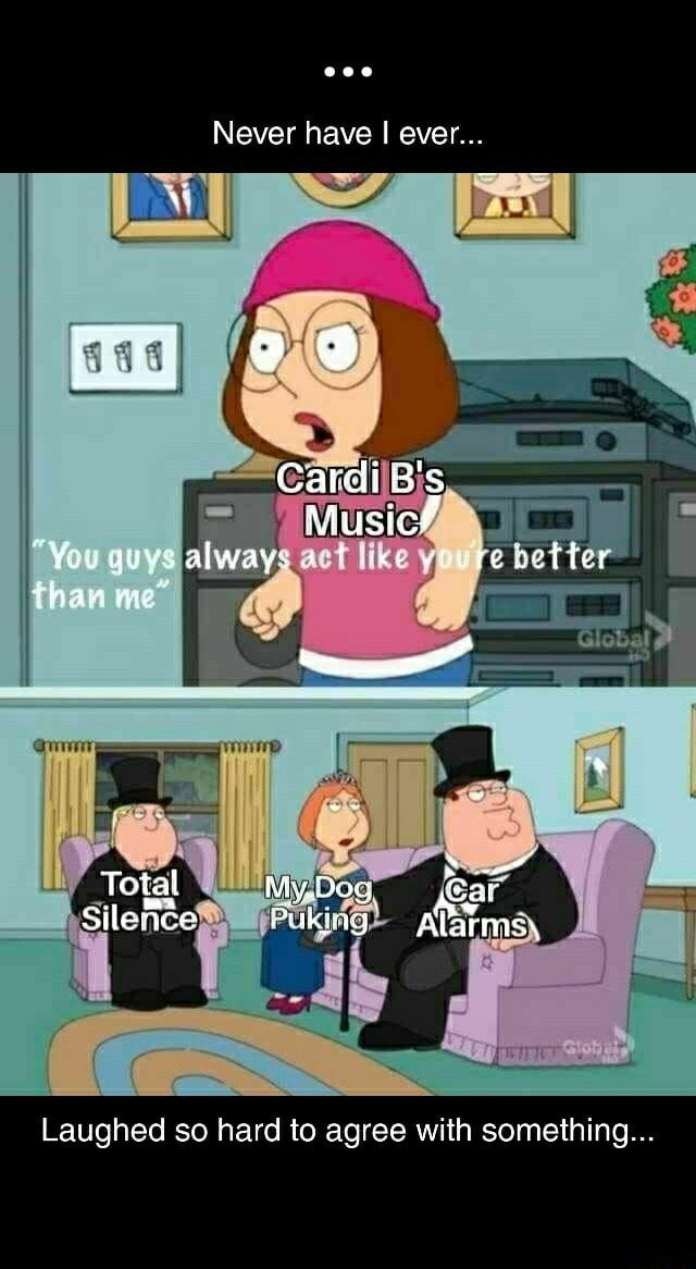 Never have I ever Carei B's Musicf You guys always like stute bett than me Total AS Silenee Alarmsy Laughed so hard to agree with something memes