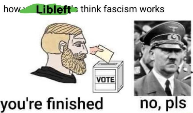 Howe think fascism works you re finished no, pis memes