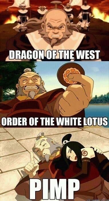 DRAGON OF THE WEST ORDER OF THE WHITE LOTUS PIMP memes