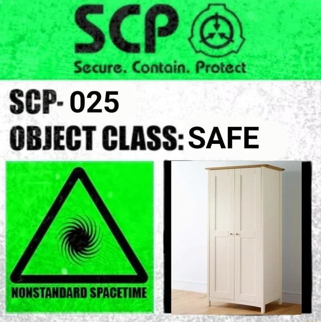 Secure. Contain. Protect SEP 025 OBJECT CLASS SAFE XI I meme