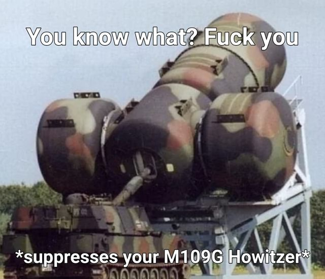 You know what Fuck you *suppresses your M109G Howitzer* memes
