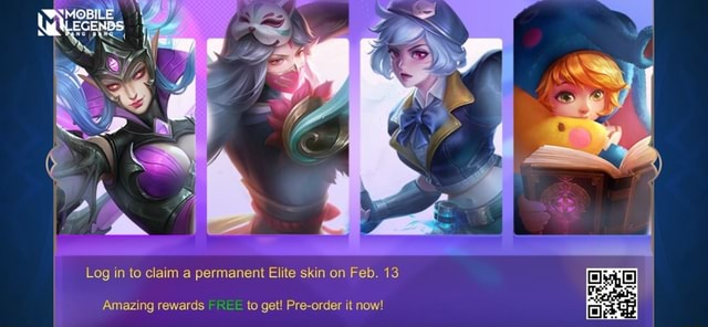 Log in to claim a permanent Elite skin on Feb. 13 Amazing rewards REE to get Pre order it now memes