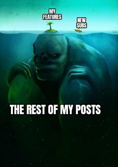 My FEATURES SUBS THE REST OF MY POSTS memes