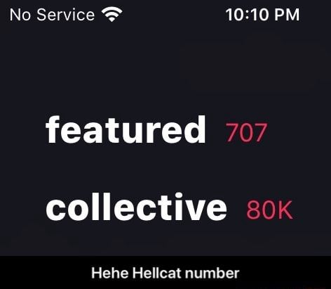 No Service PM featured 707 collective ox Hehe Hellcat number Hehe Hellcat number memes