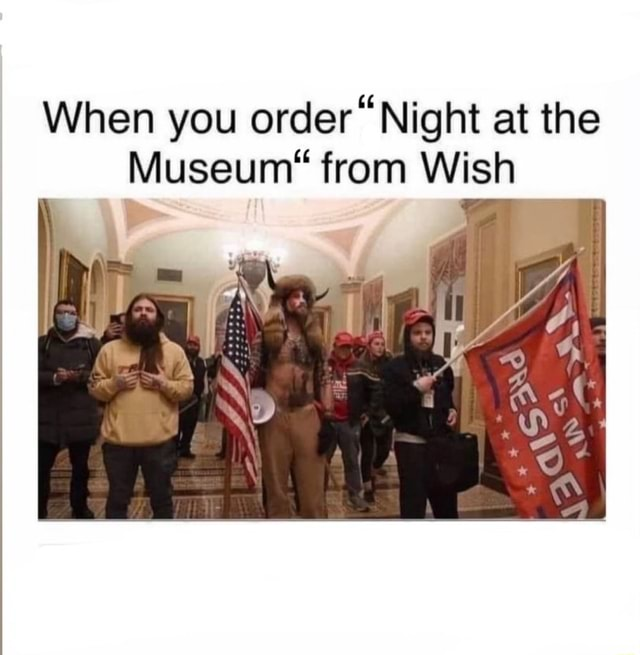 When you order Night at the Museum* from Wish meme