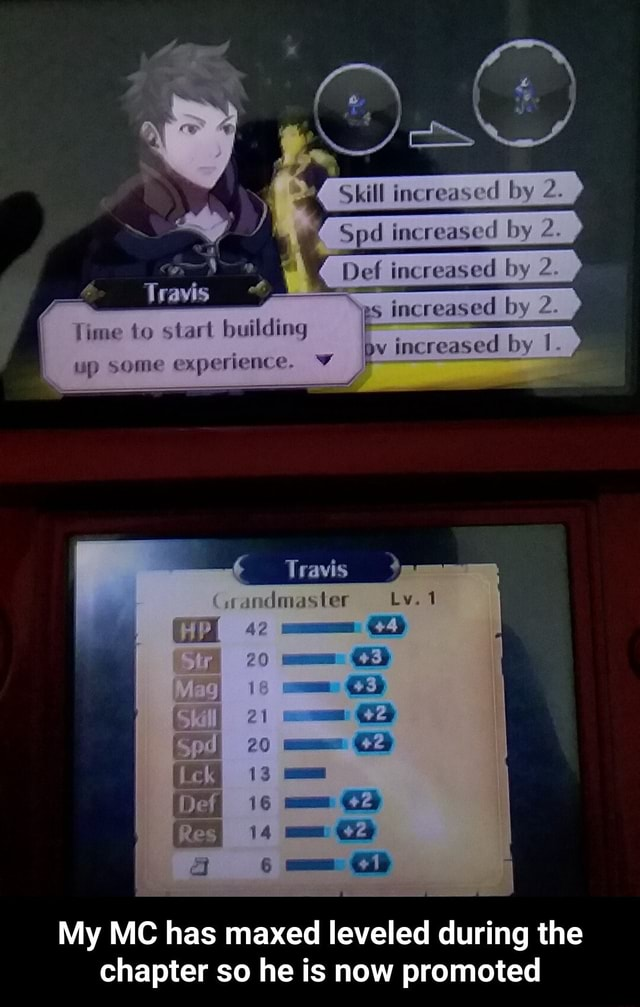 Boy Del inereaved by BS increased by 2. ime to start building seme by inc reased by 1. up some experie nce. Travis wandmaster 21 14 My MC has maxed leveled during the chapter so he is now promoted  My MC has maxed leveled during the chapter so he is now promoted meme