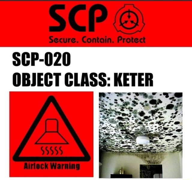 SCP Secure. Contain. Protect SCP 020 OBJECT CLASS KETER Airlock Warning memes