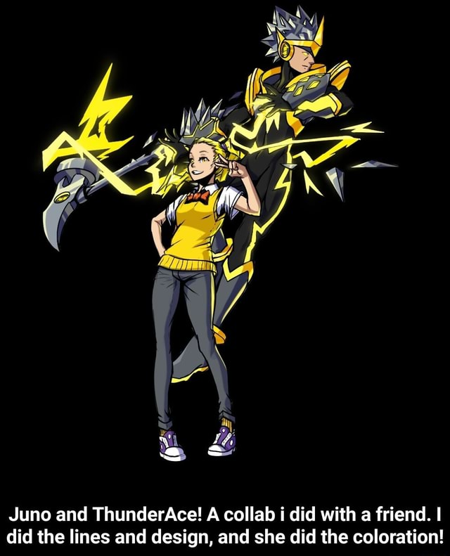 Z INS Juno and ThunderAce A collab i did with a friend. I did the lines and design, and she did the coloration  Juno and ThunderAce A collab i did with a friend. I did the lines and design, and she did the coloration meme