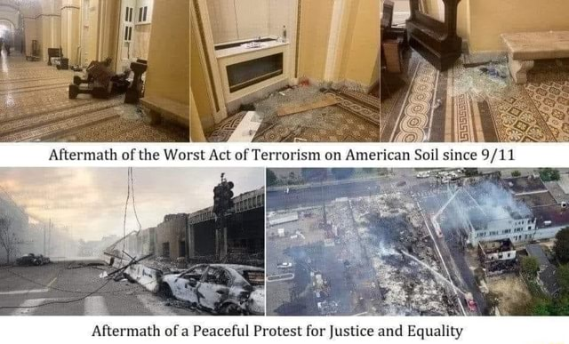 Aftermath of a Peaceful Protest for Justice and Equality memes
