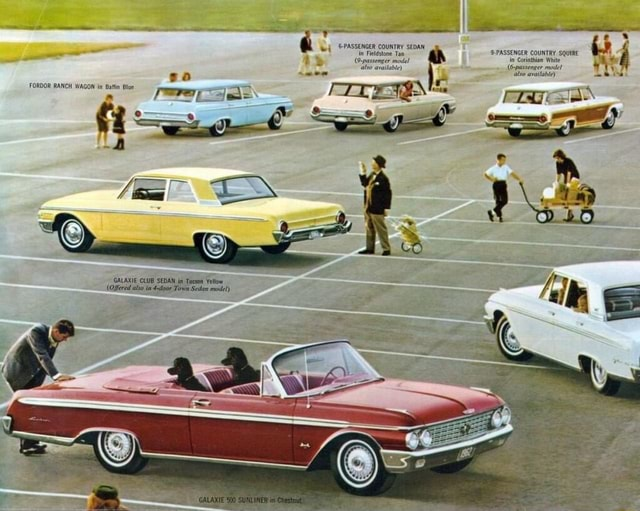 FORDOR RANCH WAGON in GALAXIE CLUB SEDAN in Tueson Yellow Offered ato Town Seen mote ll S and meme