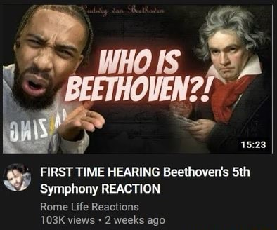 FIRST TIME HEARING Beethoven's Sth Symphony REACTION Rome Life Reactions 103K views 2 weeks ago meme