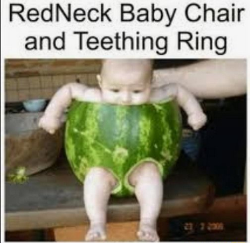 RedNeck Baby Chair and Teething Ring memes